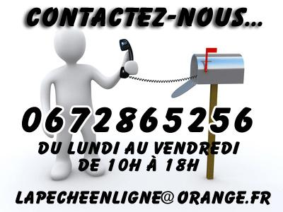Contactez www.lapecheenligne.com par e-mail ou téléphone.