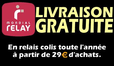 Toute l'année, livraison gratuite avec Mondial Relay à partir de 29€ d'achats.