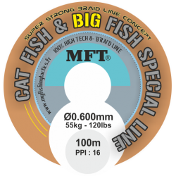 MFT ® - Tresse X 8 brins - Cat Fish & Big Fish - Silure